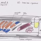 ontwerpschets foto eten
